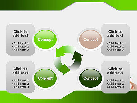 Hand Touching a Button PowerPoint Template Slide 9