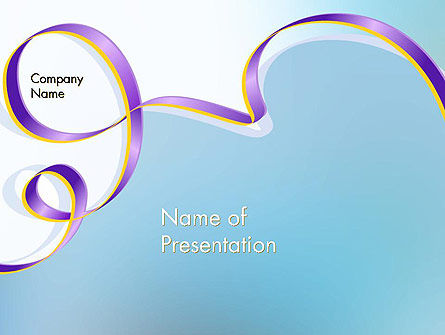 Background with Ribbon PowerPoint Template, 12319, Abstract/Textures — PoweredTemplate.com