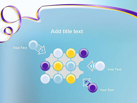 Background with Ribbon PowerPoint Template Slide 10
