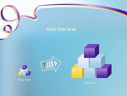 Background with Ribbon PowerPoint Template Slide 13