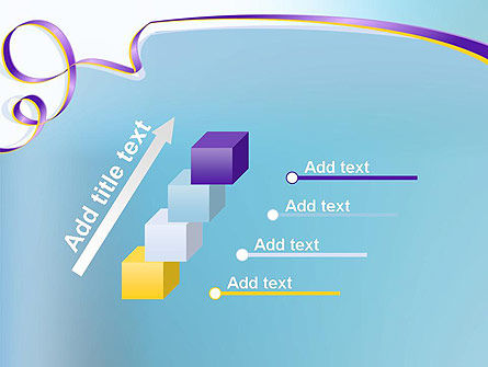 Background with Ribbon PowerPoint Template Slide 14