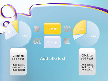 Background with Ribbon PowerPoint Template Slide 16