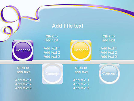 Background with Ribbon PowerPoint Template Slide 18