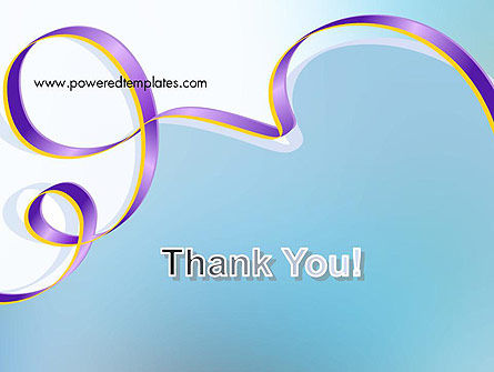 Background with Ribbon PowerPoint Template Slide 20