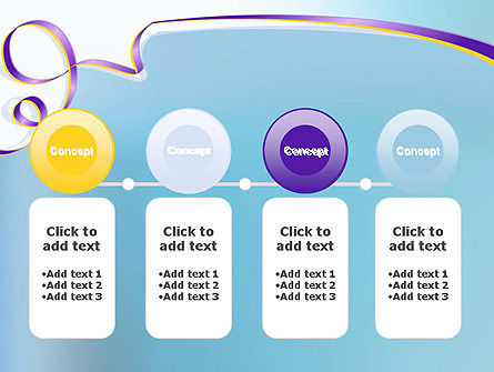 Background with Ribbon PowerPoint Template Slide 5