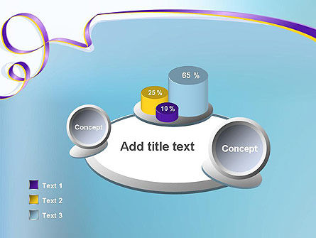 Background with Ribbon PowerPoint Template Slide 6