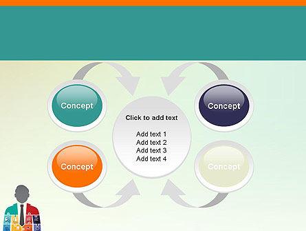 Jigsaw Person PowerPoint Template Slide 6