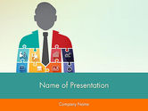 Business Concepts: Jigsaw Person PowerPoint Template #12320
