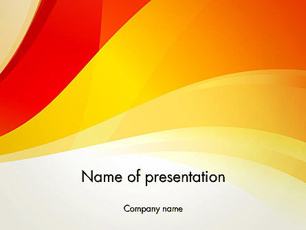 Abstract/Textures: Orange Waves PowerPoint Template #12322