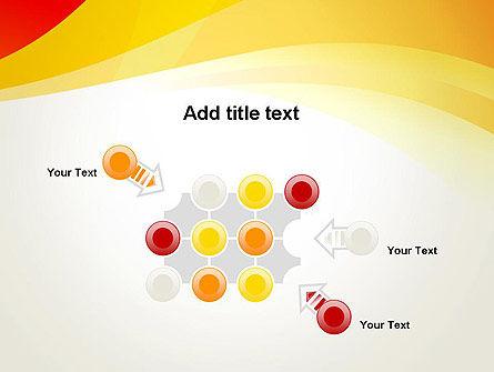 Orange Waves PowerPoint Template Slide 10
