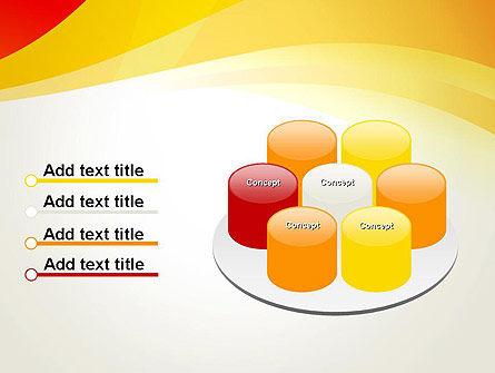 Orange Waves PowerPoint Template Slide 12