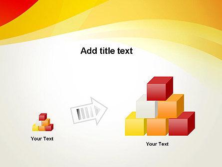 Orange Waves PowerPoint Template Slide 13