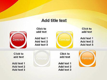 Orange Waves PowerPoint Template Slide 18
