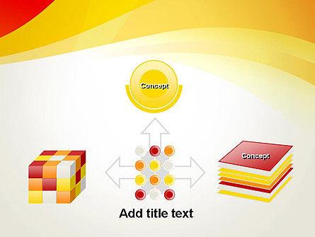 Orange Waves PowerPoint Template Slide 19
