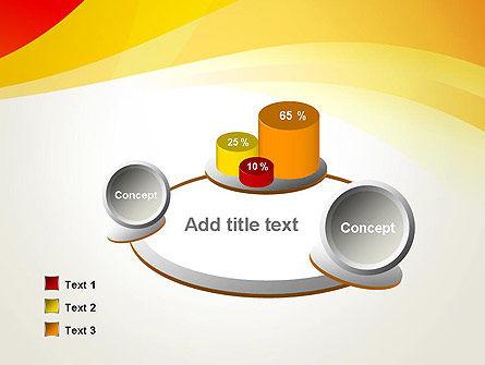 Orange Waves PowerPoint Template Slide 6