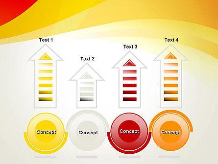 Orange Waves PowerPoint Template Slide 7