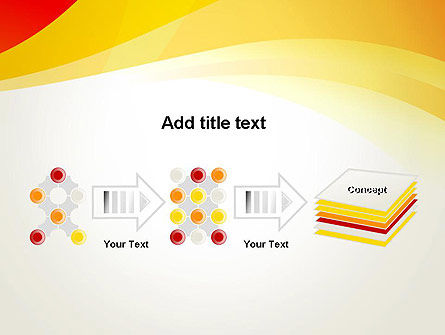 Orange Waves PowerPoint Template Slide 9