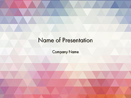 Abstract Pastel Colorful Triangle Pattern PowerPoint Template