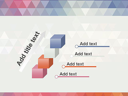 Abstract Pastel Colorful Triangle Pattern PowerPoint Template Slide 14
