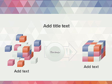 Abstract Pastel Colorful Triangle Pattern PowerPoint Template Slide 17
