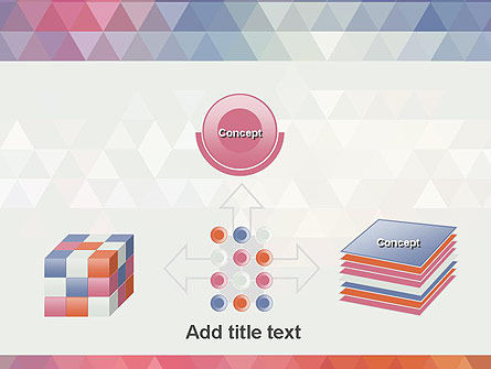 Abstract Pastel Colorful Triangle Pattern PowerPoint Template Slide 19