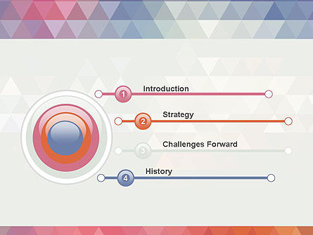 Abstract Pastel Colorful Triangle Pattern PowerPoint Template Slide 3