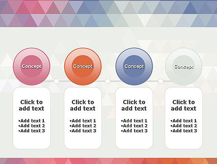 Abstract Pastel Colorful Triangle Pattern PowerPoint Template Slide 5