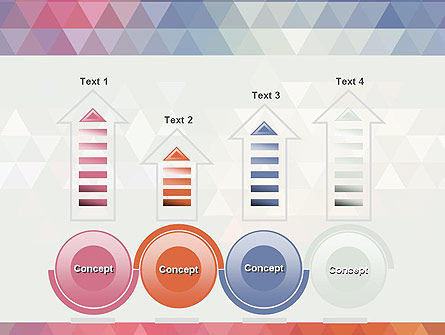 Abstract Pastel Colorful Triangle Pattern PowerPoint Template Slide 7