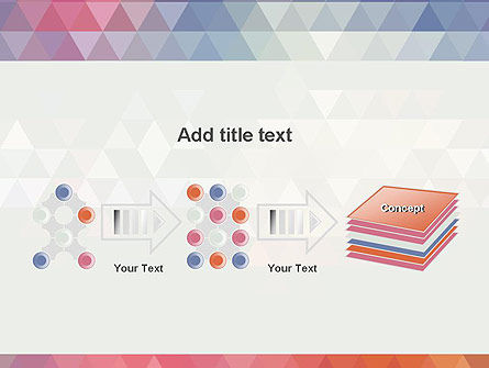 Abstract Pastel Colorful Triangle Pattern PowerPoint Template Slide 9