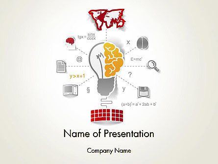 Knowledge Management PowerPoint Template, 12325, Education & Training — PoweredTemplate.com