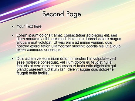 Spectral Moving Lights PowerPoint Template Slide 2