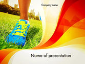Health and Recreation: Walking Workouts PowerPoint Template #12328