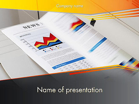 Careers/Industry: Color Copies PowerPoint Template #12329