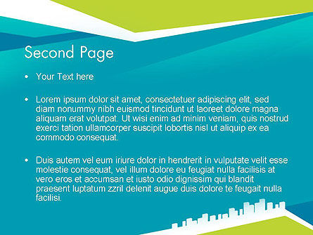 City Skyline PowerPoint Template Slide 2