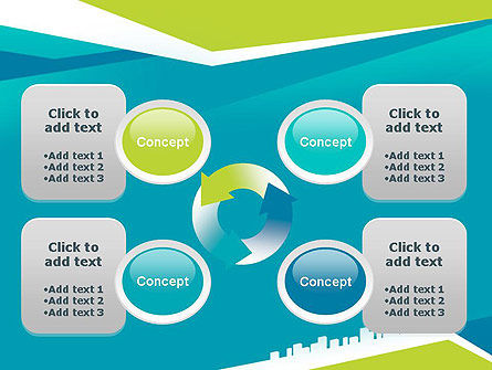City Skyline PowerPoint Template Slide 9