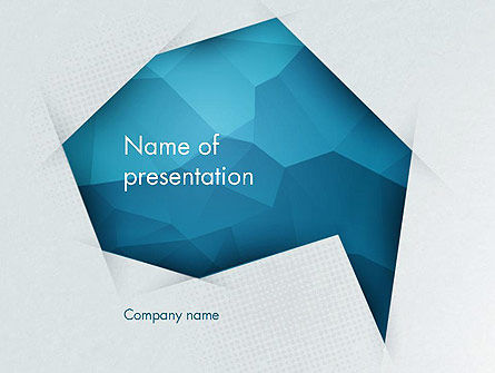Abstract/Textures: Creative Speech Bubble PowerPoint Template #12332