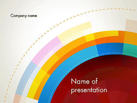 Monochromatic Sectors PowerPoint Template