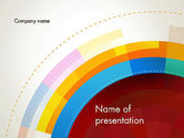 Monochromatic Sectors PowerPoint Template#1