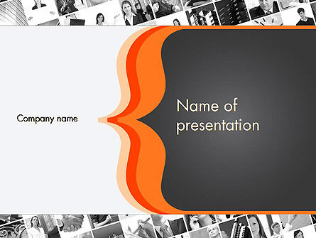 Business Concepts: Brace Symbol Theme PowerPoint Template #12336