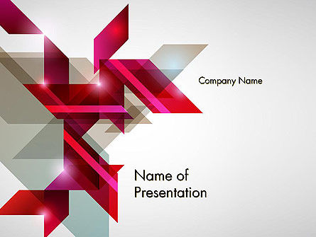 Geometric Composition PowerPoint Template, 12337, Abstract/Textures — PoweredTemplate.com