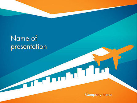 Air Charter PowerPoint Template, 12338, Cars and Transportation — PoweredTemplate.com