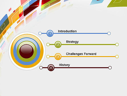 Colorful Abstract Technology PowerPoint Template, Slide 3, 12339, Abstract/Textures — PoweredTemplate.com