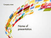 Abstract/Textures: Templat PowerPoint Teknologi Abstrak Yang Penuh Warna #12339