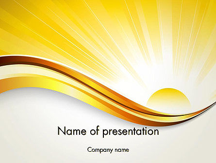 Nature & Environment: Rising Sun PowerPoint Template #12342