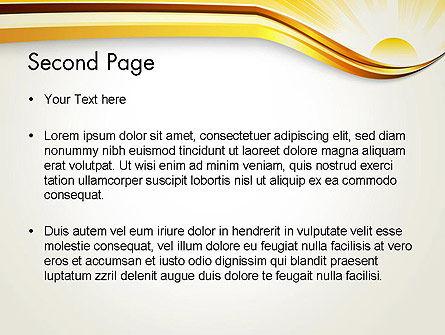 Rising Sun PowerPoint Template, Slide 2, 12342, Nature & Environment — PoweredTemplate.com