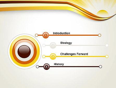 Rising Sun PowerPoint Template, Slide 3, 12342, Nature & Environment — PoweredTemplate.com