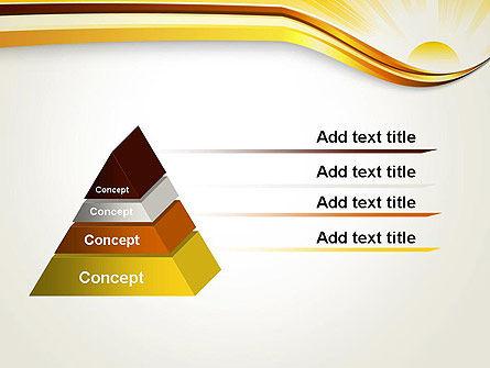 Rising Sun PowerPoint Template, Slide 4, 12342, Nature & Environment — PoweredTemplate.com
