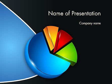 Segmented Pie Chart PowerPoint Template, 12346, Consulting — PoweredTemplate.com