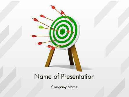 Environmental Target PowerPoint Template, 12347, Nature & Environment — PoweredTemplate.com