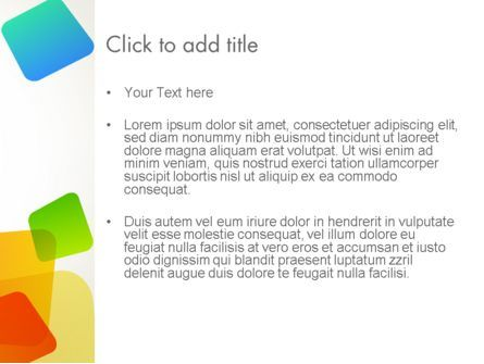 Transparent Colored Squares PowerPoint Template, Slide 3, 12348, Abstract/Textures — PoweredTemplate.com